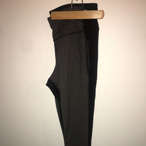 old navy gray and black leggings XL
